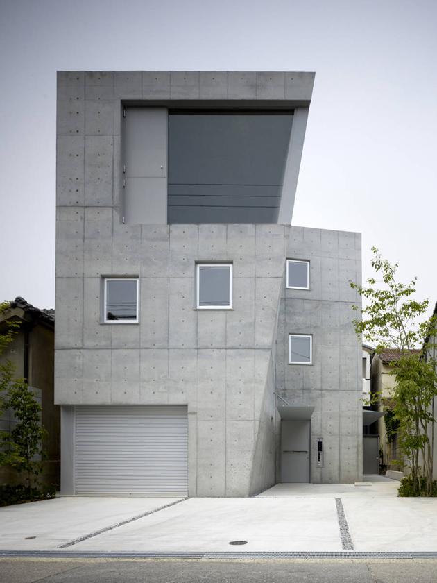 HÉTVÉGI HÁZ: formás beton ház Japánban