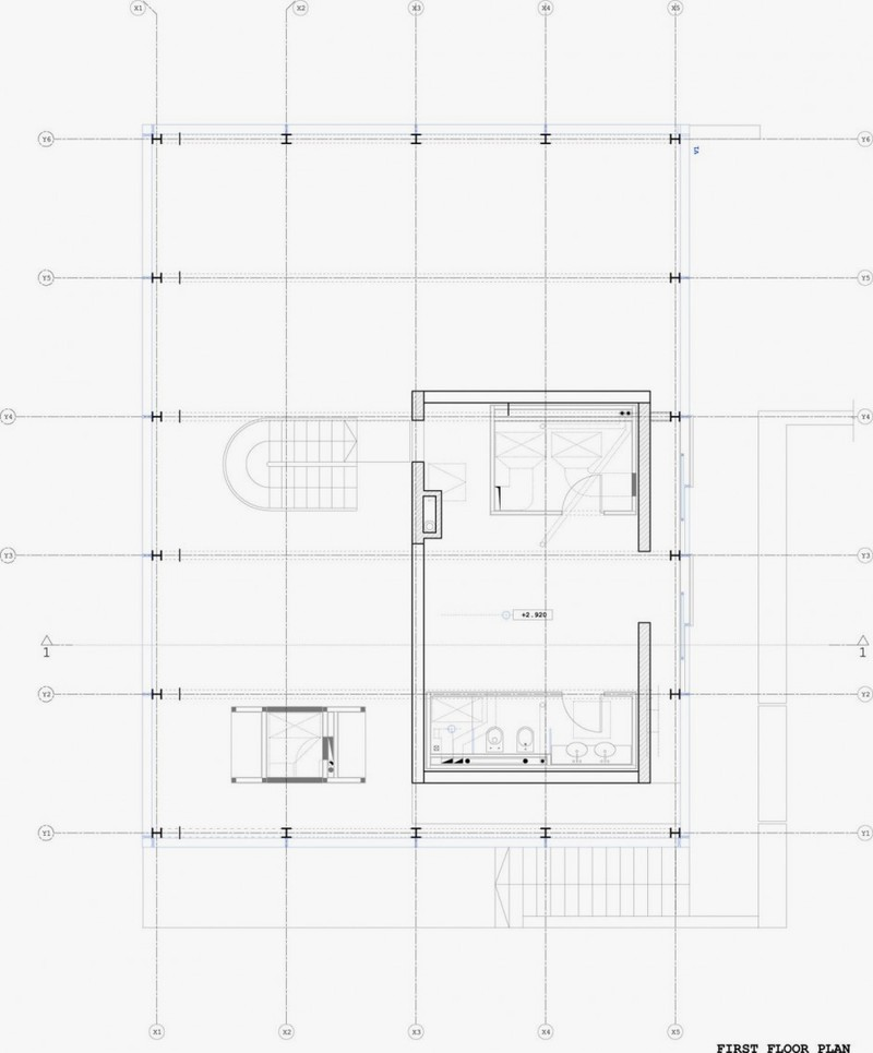 first-floor-plan-of-Antique-Old-Building-Wrapped-in-Modern-Glass-House-Box
