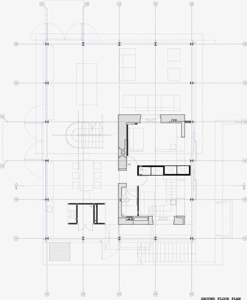 ground-floor-plan-of-Antique-Old-Building-Wrapped-in-Modern-Glass-House-Box