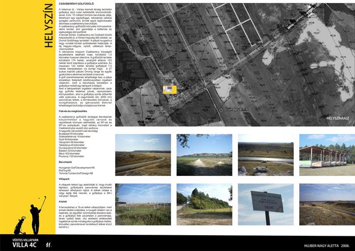 800 nm-es golf villa Csákberény