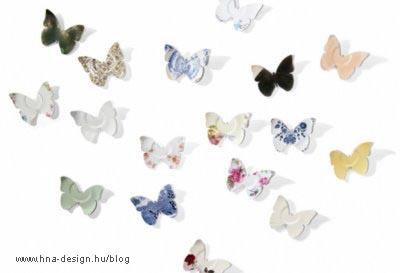 lepkegyűjtemény lepkék a belsőépítészetben, dekorációkon