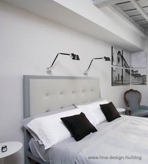 modern fehér hálószobák lakberendezése