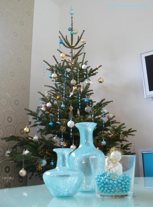 trendi türkiz karácsonyfa 2009