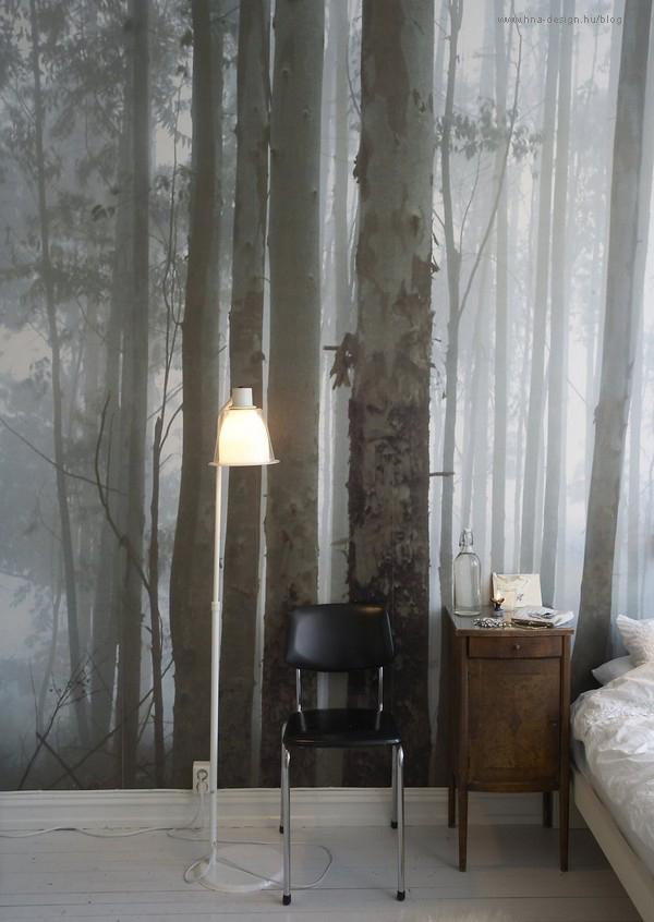 fotó tapéta a hálószobában
