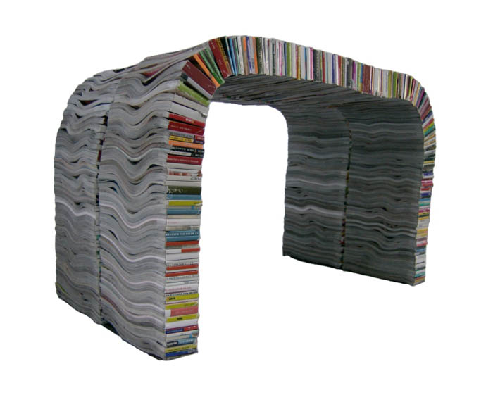 Újrahasznosított anyagból készült bútorok