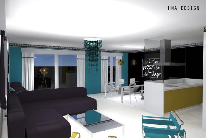 128 nm-es penthouse lakás látványterve