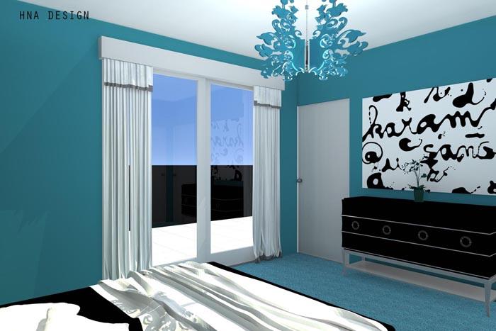 128 nm-es penthouse lakás látványtervei