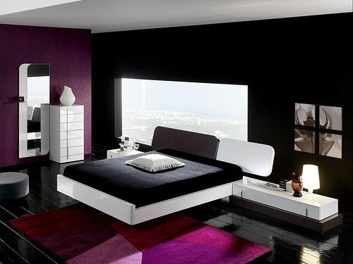 Lila hálószobák