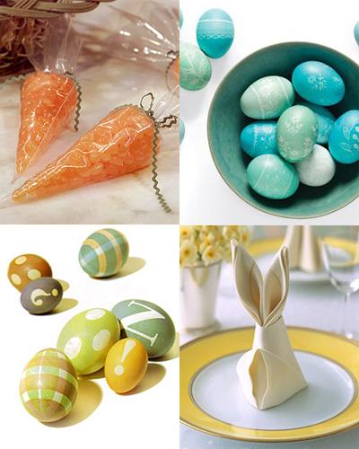Modern húsvéti dekoráció.